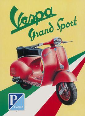 Vespa Grand Sport Fine Art Giclee Print