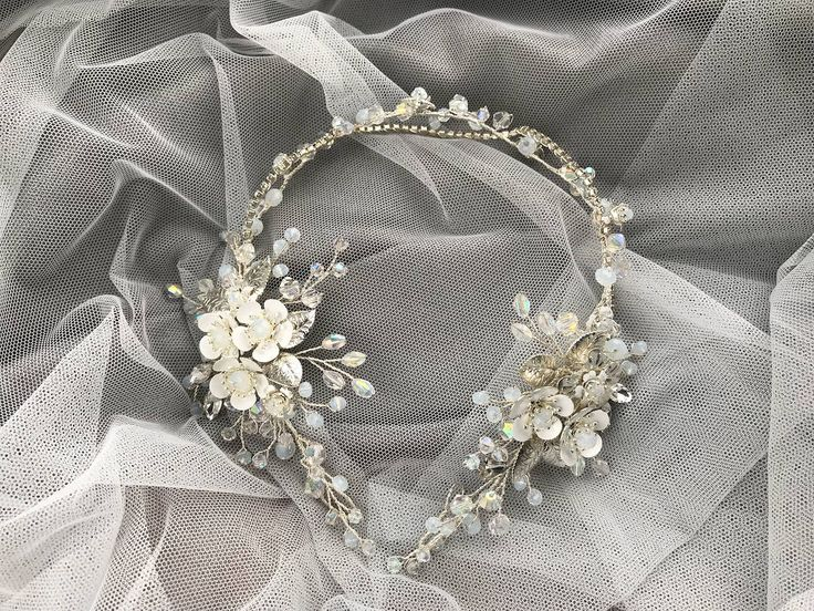 Excited to share the latest addition to my #etsy shop: Wedding Silver Tiara Bridal Crystal Vine Wreath Head Flower Bridal Vine Pearl Wedding Hair Vine Piece Wedding Piece Comb Bridal #weddings #accessories #weddingsilvertiara #silver #silvertiarabridal #tiarabridalcrystal #bridalcrystalvine #crystalvinewreath #wreathheadflower