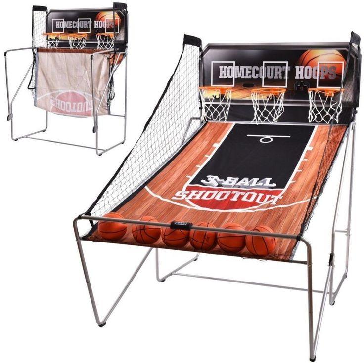 Basketball Arcade Game 3 Player Backboard Electronic Scorer Hoops 6 Balls Kids  #BasketballArcadeGame