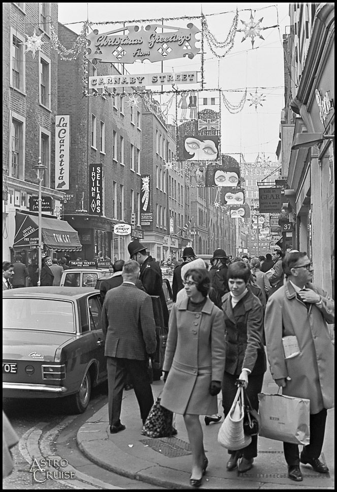 Carnaby Street--coolest place to be in the l960's The decade I was born, near the end of the decade lol.