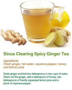 Ginger tea for sinus congestion