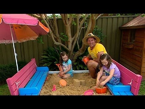 Rob will show you a clever sand pit design that incorporates seating around the outside, and then becomes a cover and the kid's very own deck area. i know i pinned one of these before but this is better only bcuz its a video.