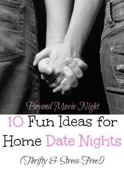 "Fun ideas for home date nights. I L-O-V-E that this list goes beyond ""Just watch a movie together"" (though I love a good movie) and suggests things that spark conversation and bonding with your spouse! Hard to find a good list like that!"