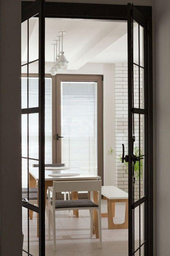Modern Day Kiev Apartment With White Brick Partitions Lifestyle - badewanne eingemauert modern