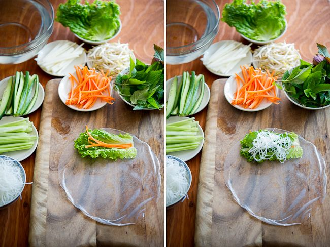How to roll spring rolls (and recipe) from @Diane Cu (White On Rice Couple) -- gorgeous photos and great tutorial!