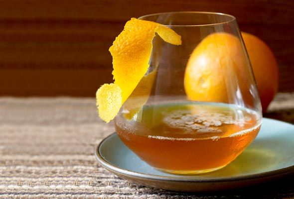For me, this might be a little slice of heaven... The smoky sweet heat of chipotle infuses bourbon in this fall cordial, as does orange and vanilla. Pass us some, please.