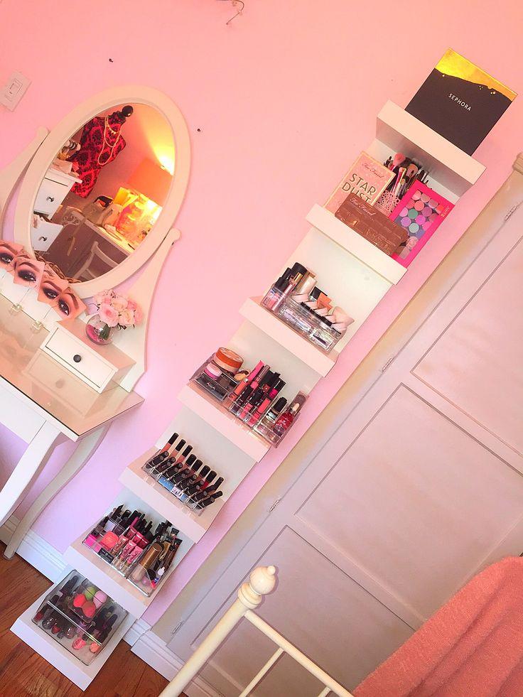 Makeup shelves IKEA LACK