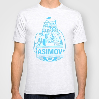 Forever Asimov  T-shirt by Oliver Trigger - $18.00