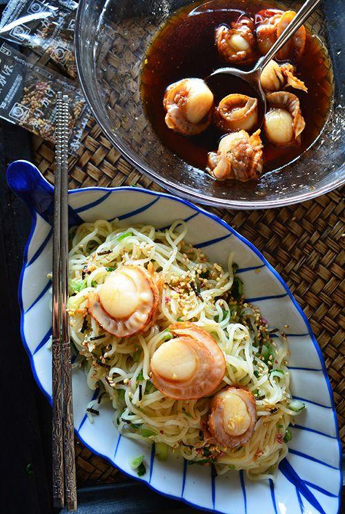 5分で冷やし中華。ネギ&ホタテ&生姜&タレ=おいしっ♪ - 【E・レシピ】料理のプロが作る簡単レシピ