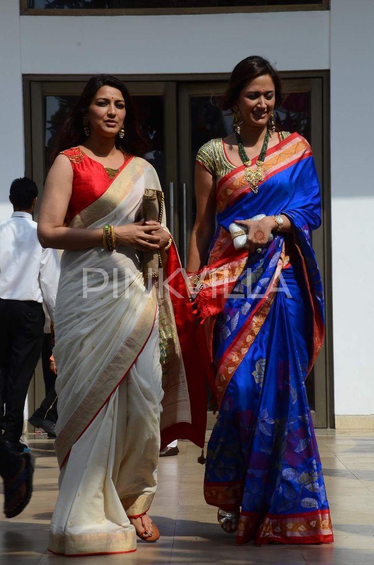 Sonali Bendre and Gayatri Joshi rock the traditional look at a wedding