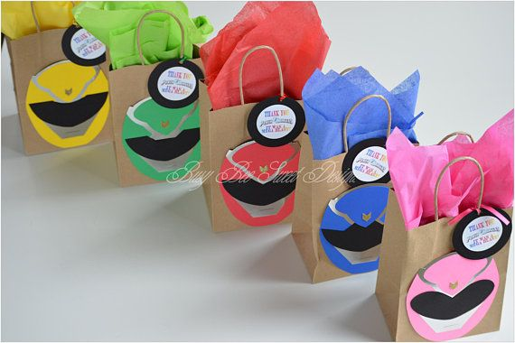 Power Rangers partido Favor bolsas / Power Rangers la fiesta