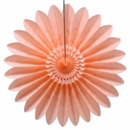 Honeycomb waaier bloem 45 cm perzik | PSikhouvanjou