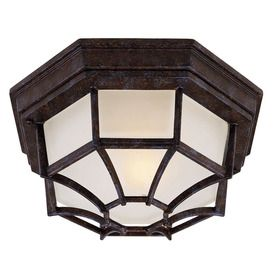 11-In W Rustic Bronze Outdoor Flush-Mount Light 20073762