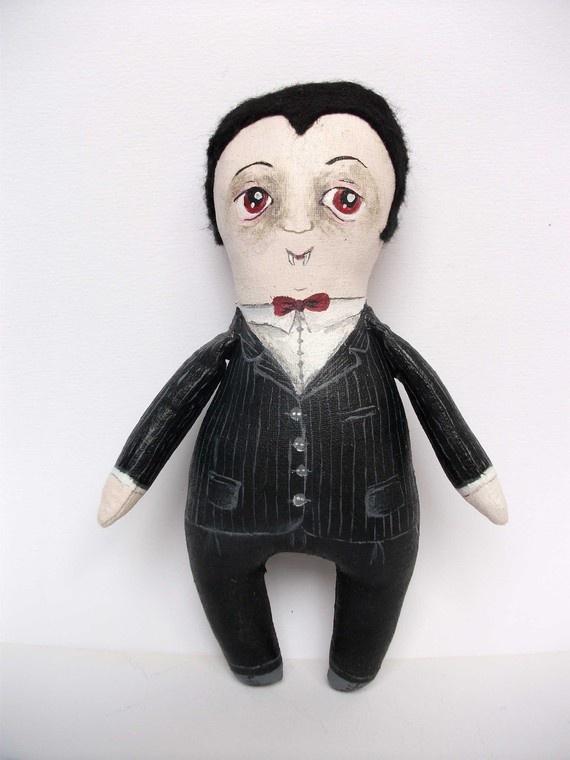 Helmut Van Den Berg Halloween mini art doll by MademoiselleG