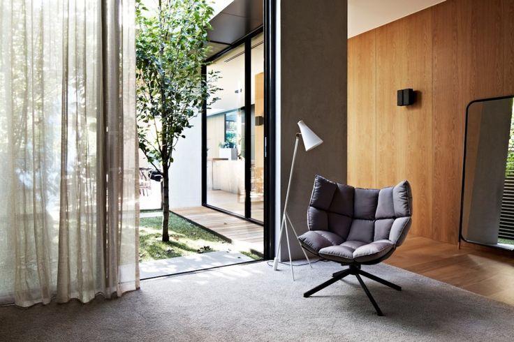 Husk Swivel Chair, Patricia Urquoila for B&B Italia  AGUSHI and Workroom Design House in South Yarra, Melbourne Australia