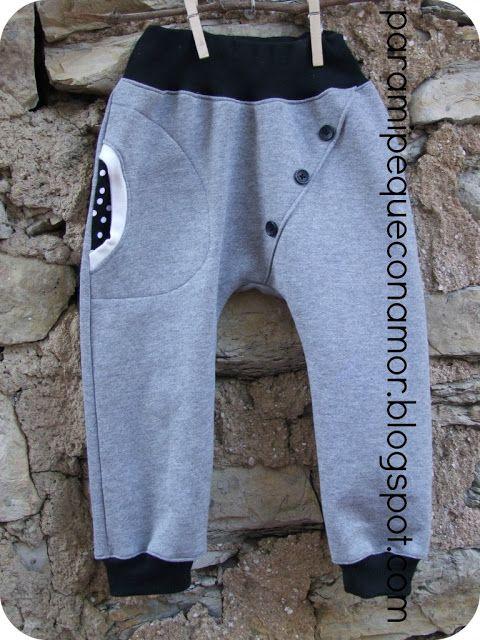 Para mi peque con amor: Pantalones corte cruzado con botones
