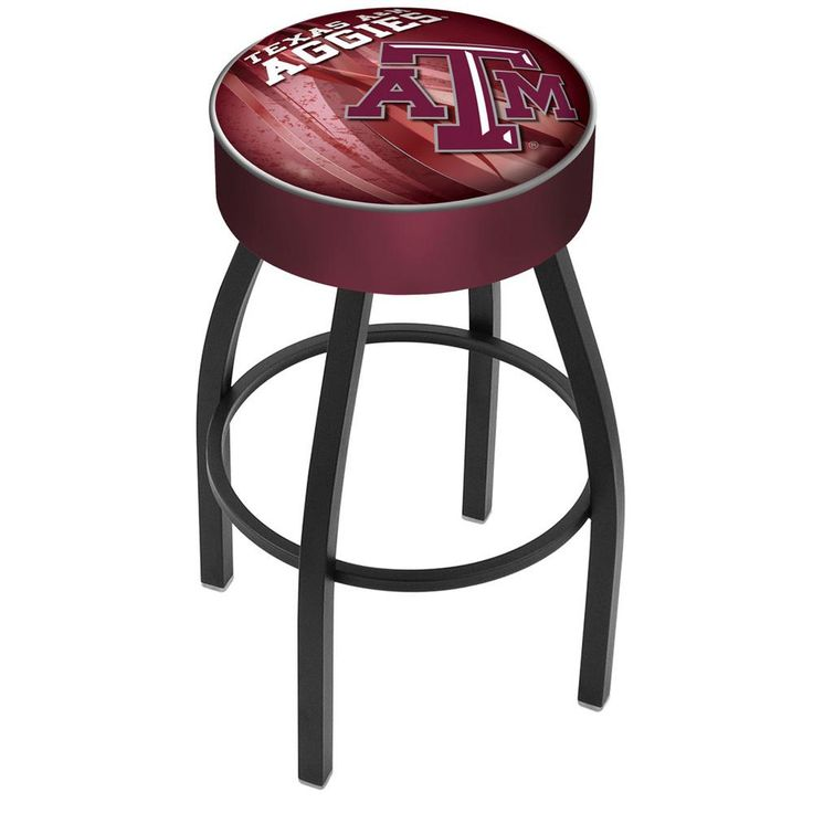 Texas A&M Aggies Swivel Stool in Black Wrinkle