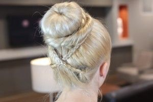 Cross Braid Sock Bun from Cute Girls Hairstyles with guest EveliniCutza