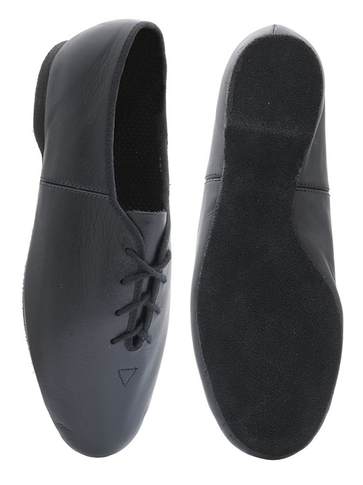 Leather Lace Up Split Sole Jazz Shoe With Suede Sole