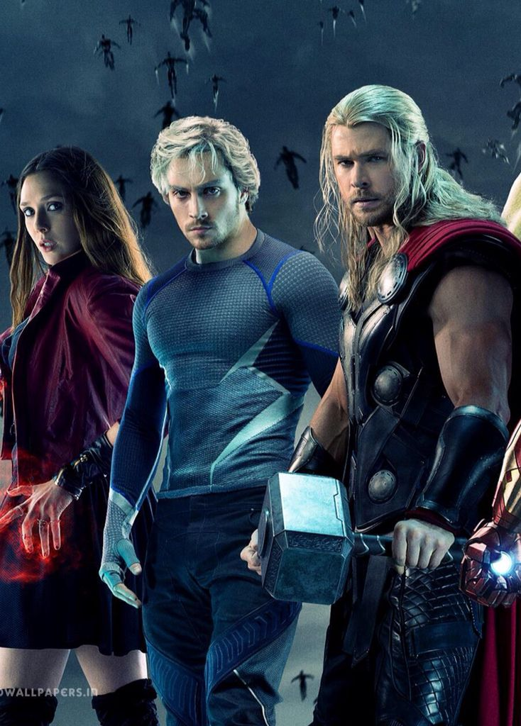 age of ultron scarlet witch quicksilver and thor the