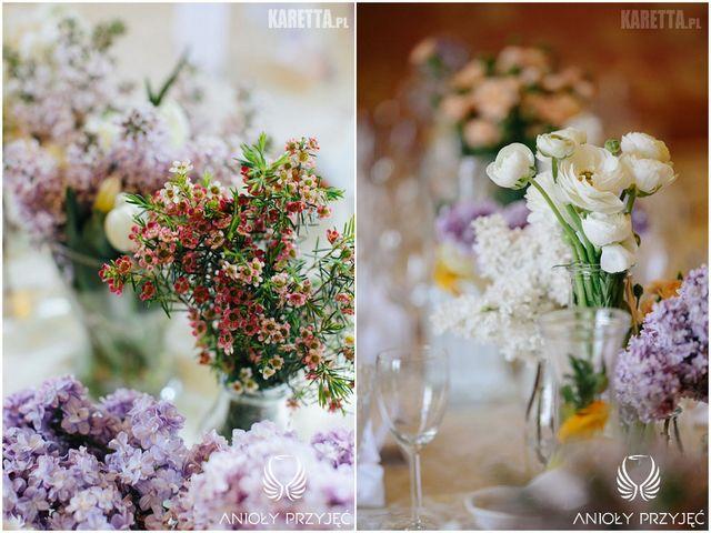 Lilac Wedding,Centerpieces,Spring flower | Wesele z bzem,Kompozycje kwiatowe,Wiosenne kwiaty,Anioły Przyjęć