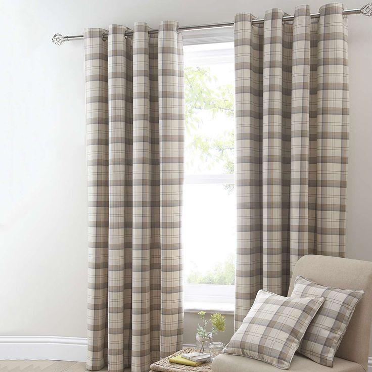 Balmoral Ochre Lined Eyelet Curtains | Dunelm