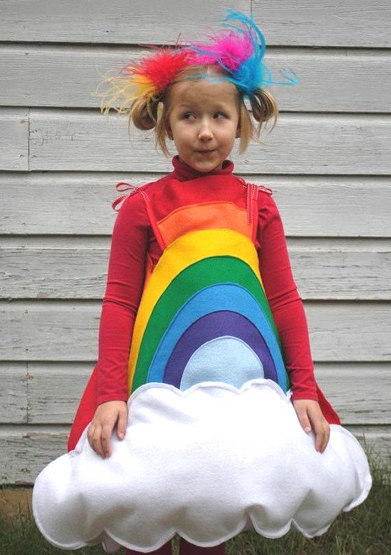 Handmade felt Rainbow costume for Toddler Easter by AlphabetCircus