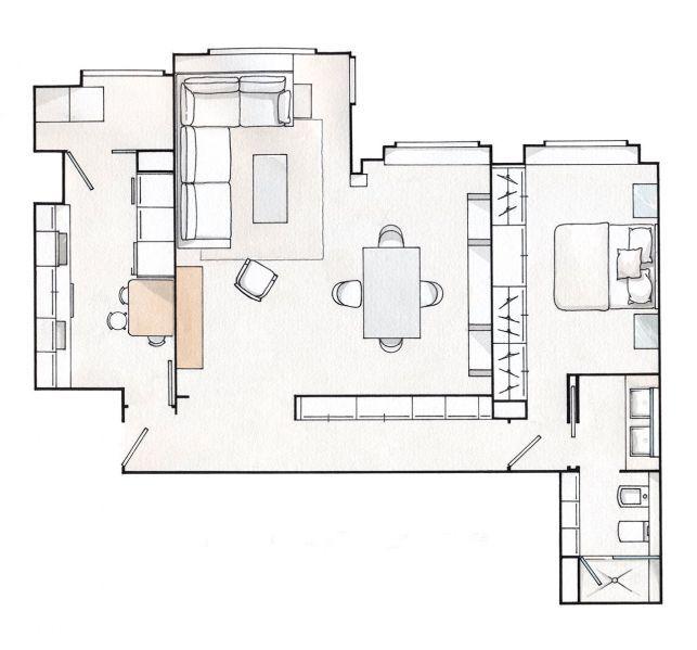 Apartament de 70 mp sau cum sa pui in valoare spatiul locuintei- Inspiratie in amenajarea casei - www.povesteacasei.ro