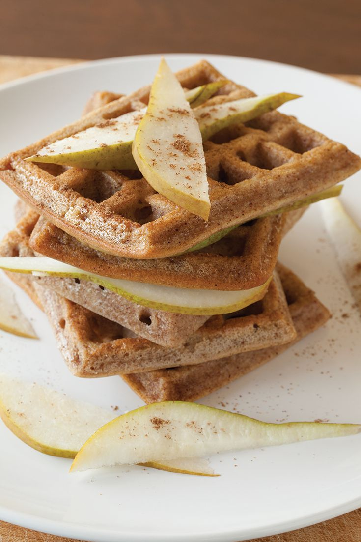 Pear Chai Waffles #glutenfree - OMG these look good...