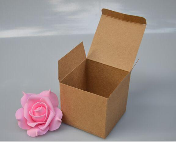 Радость 6*6*6 см Крафт-Бумага Коробка Природных Крафт-бумага подарочная коробка для свадьбы, день рождения и бумаги cookie/коробки конфет