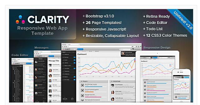 25 Responsive Website Admin Templates