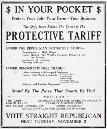 The Tariff of Abomination was when more manufacturing developed the Tariff increased. John C Calhoun called it the Tariff of Abomination. It was designed to protect the industries in the north.