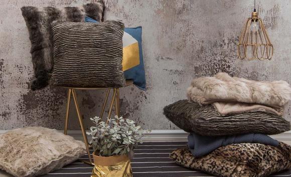 Faux Fur Throw Rug by Bambury