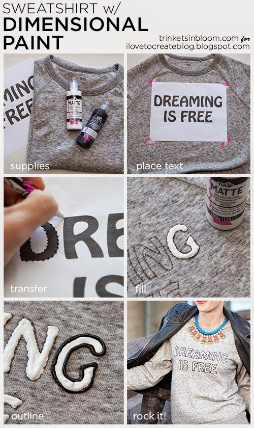 iLoveToCreate Blog: DIY Text Sweatshirt