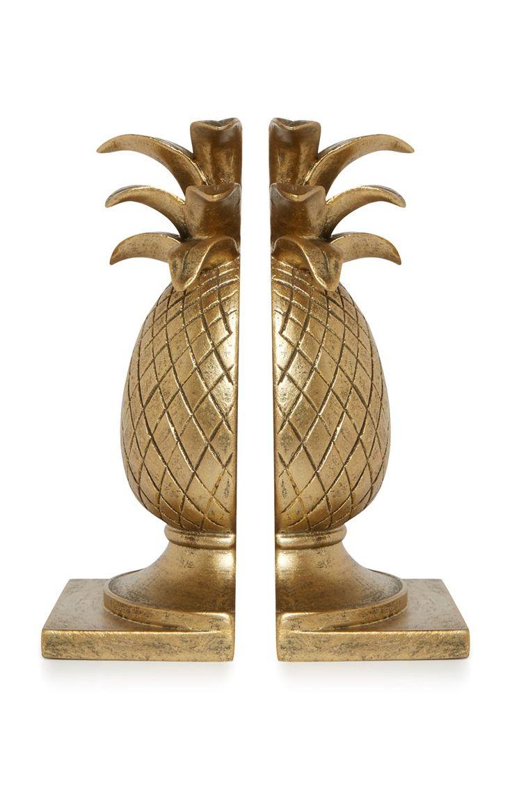 Primark - Boekensteunen in de vorm van een ananas