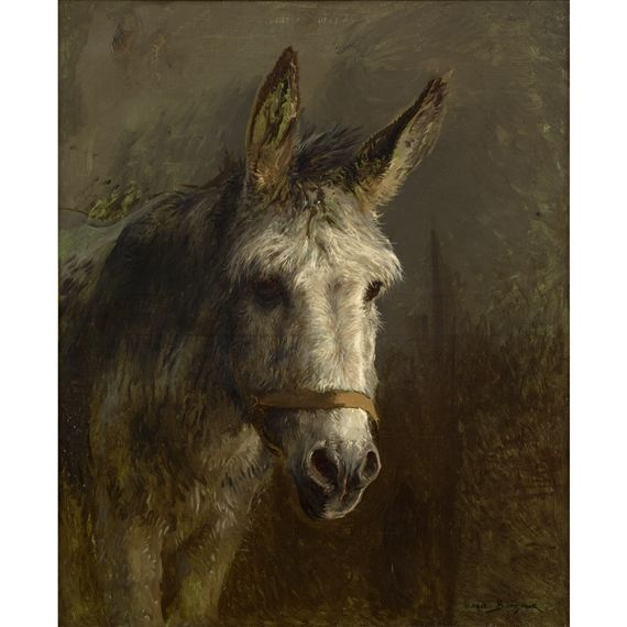 Rosa Bonheur Portrait of a Donkey 39.5 X 32 in (100.33 X 81.28 cm) Medium:  Oil on canvas Signed