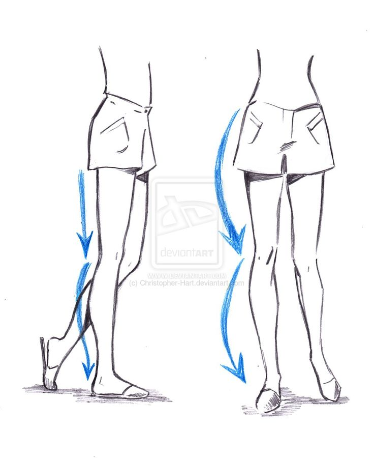 Female leg drawing reference the image for How to draw a body tumblr