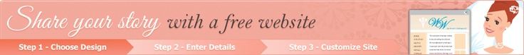 Create a personal wedding website for free