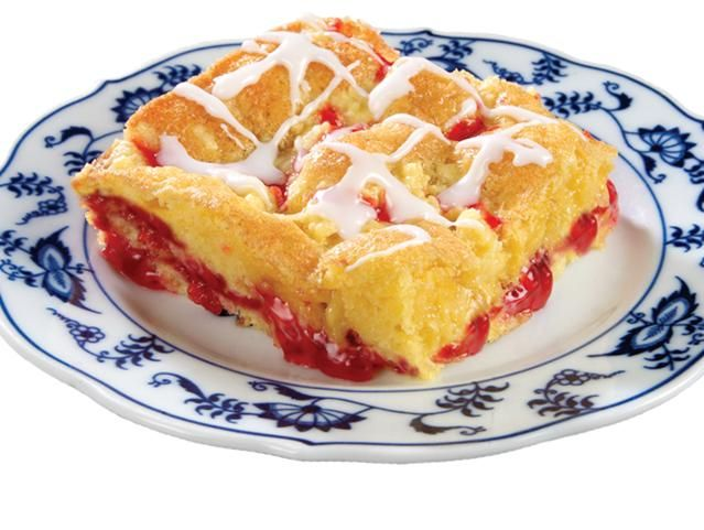 Cherry Coffee Cake Made With Yellow Cake Mix