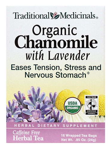 camomile and lavender tea - the BEST thing to drink in the evenings before bed.