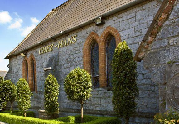 Great restaurant in a former church: Chez Hans in Cashel