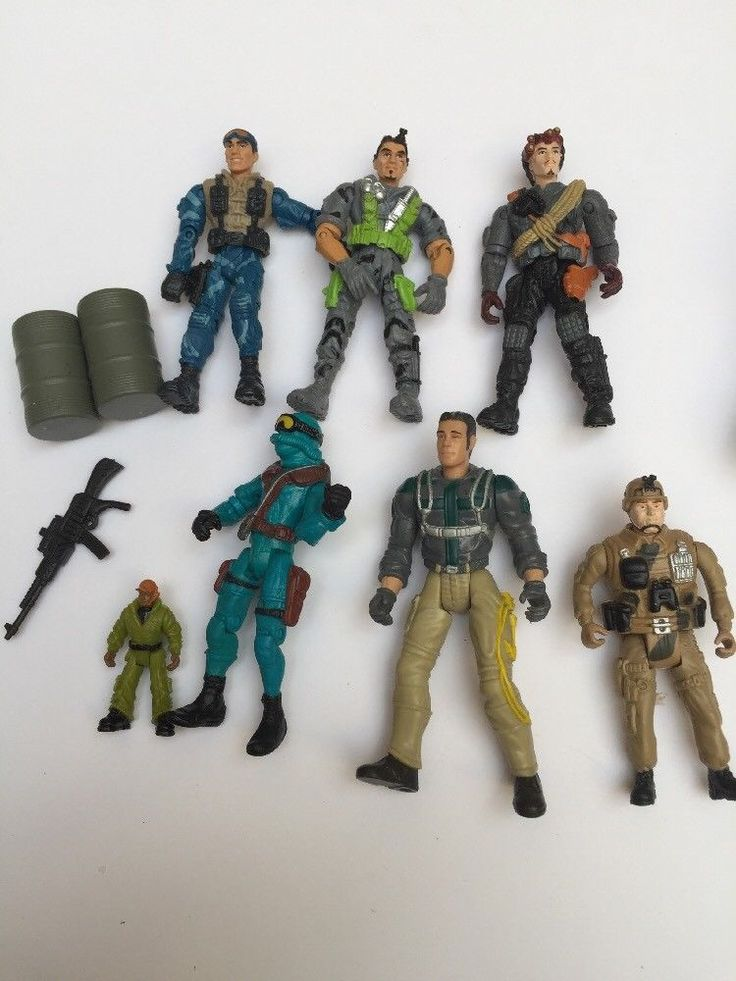 "Lot Of Lanard Army Corp 4"" Military Action Figures Secret Ops  