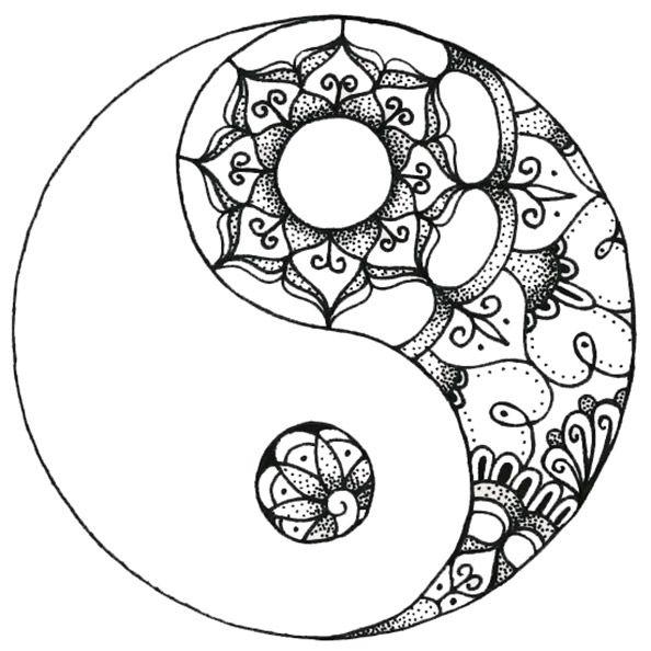 Mandalas Zum Ausdrucken Ausdrucken Mandalas Mandala Mandala Tattoo Yin Yang