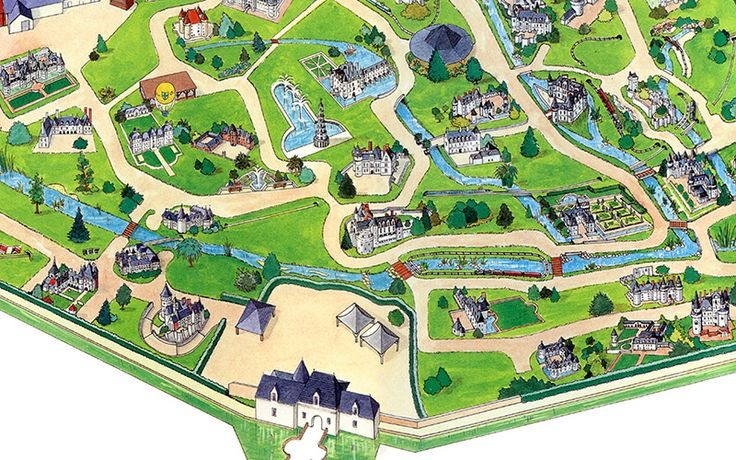 Le parc des mini-châteaux à Amboise 1998