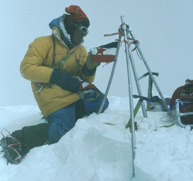 35 years ago Slovenian climbers Nejc Zaplotnik and Andrej Stremfelj stepped on the top of the world Mt. Everest.