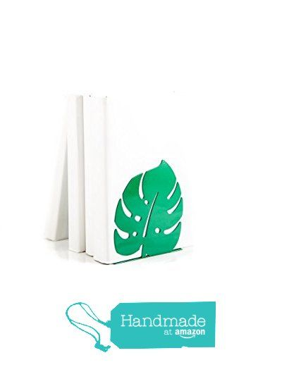 Bookend Monstera leaf // green // free shipping //design gift // for modern home // scandinavian style // tropic inspired. For work space. from Atelier Article https://www.amazon.com/dp/B01L9B2KC4/ref=hnd_sw_r_pi_dp_S3AVyb3QK27D2 #handmadeatamazon