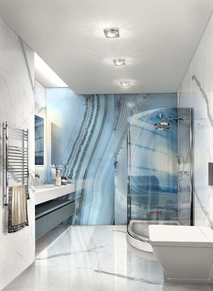 La semplicità di un bagno, si sposa con la particolarità del marmo per renderlo unico.