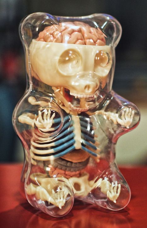 Jason Freeny's take on a gummy bear's skeleton.  Love it!!!