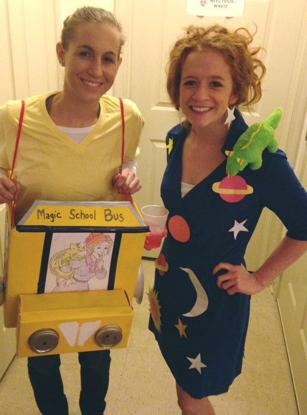The Magic School Bus and Ms. Frizzle | 31 Two-Person Costume Ideas That'll Up Your Halloween Game