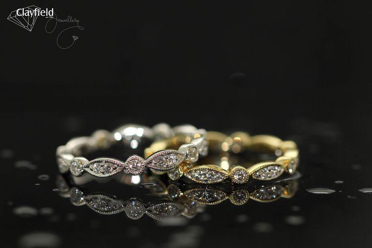 This beautiful style looks amazing in white or yellow gold...  #eternityband #weddingband #diamondring #clayfieldjewellery